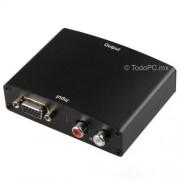 Convertidor VGA a HDMI con audio